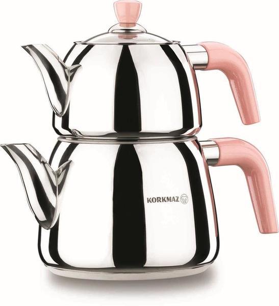 Korkmaz Manolya Çaydanlık Paslanmaz Çelik 3 Litre | İndüksiyon | A077