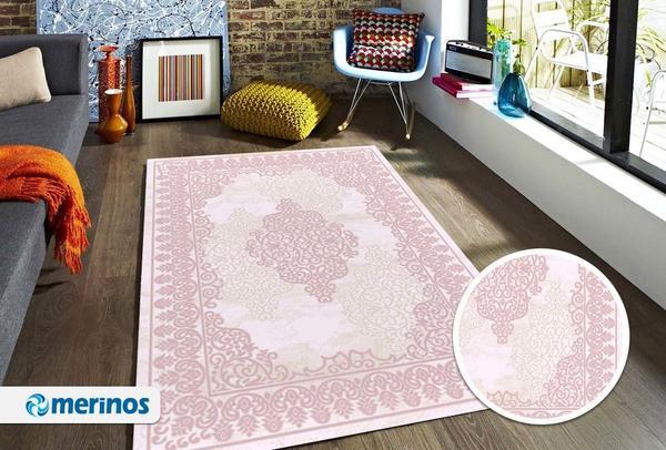 Merinos Style Modern Halı   Pembe   30526- 56-Rose
