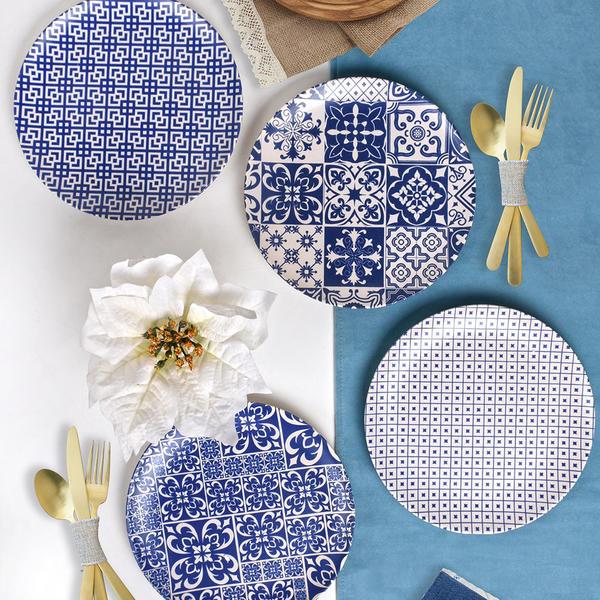 Blue Delta Pasta Tabağı 21 Cm 4 Adet - 17925-26-27-28 | Keramika