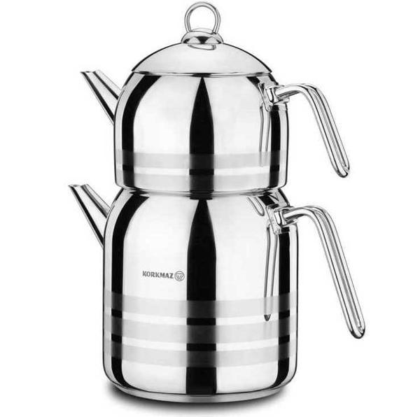 Korkmaz Largo Çaydanlık Takımı | Paslanmaz Çelik | A199
