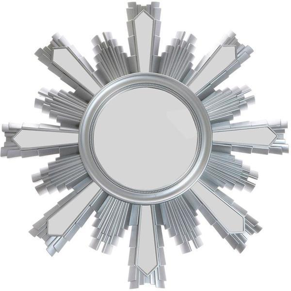 Dekonaz Modern Duvar Aynası XL Gümüş