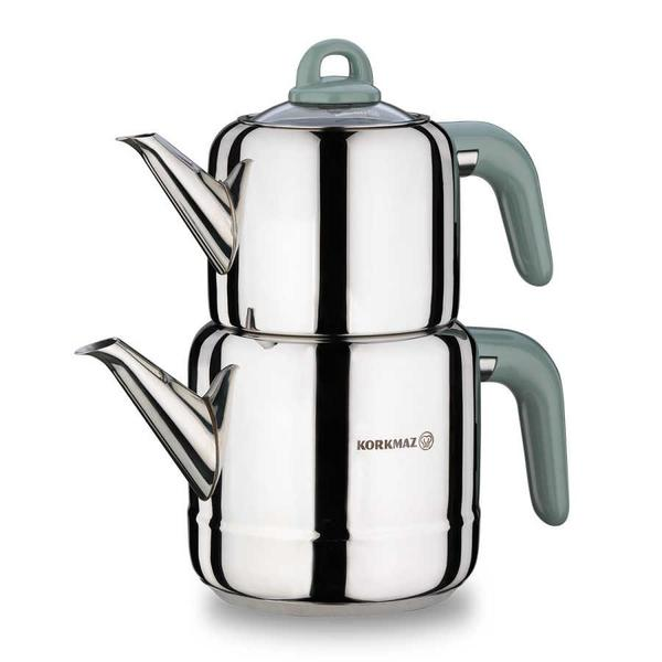 Korkmaz Hera Çaydanlık Takımı & 6'lı Cam Kaşık Seti & Üsküdar Çay Bardak Seti Hediyeli !