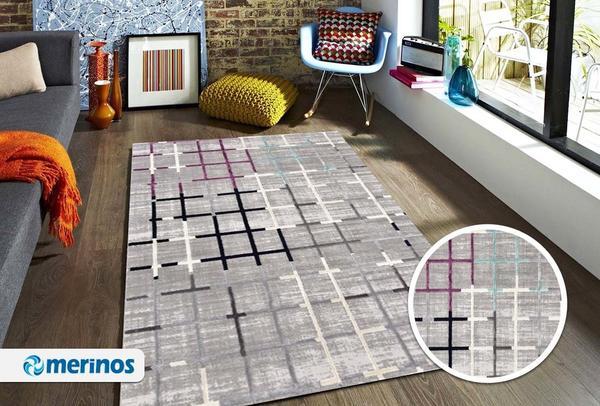 Merinos Style Modern Halı | Gri | 30525-111-Grey