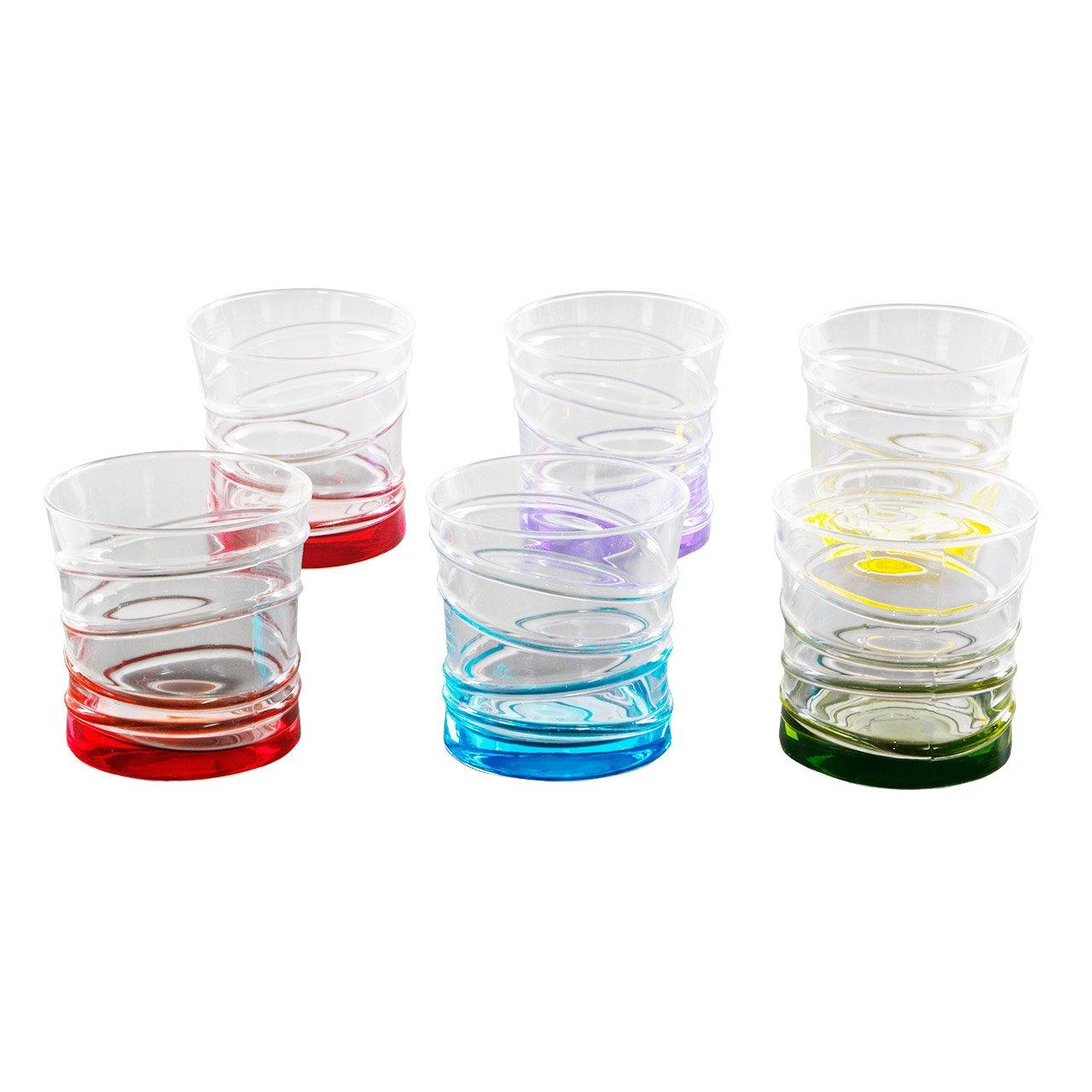 Lav Coral Ring Saftglas Set Bunt 6tlg Glaser Glas Wasserglas
