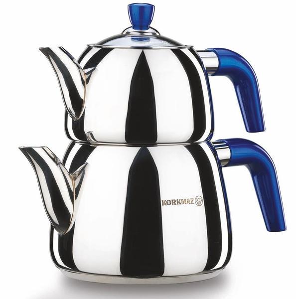 Korkmaz Marina Çaydanlık Paslanmaz Çelik 3.1 lt | A064