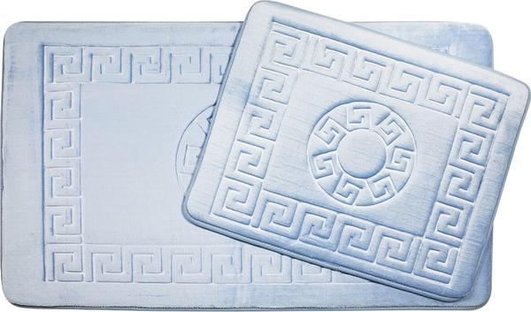 Vintage Premium Banyo Paspas Seti | 2 Parça | Pudra Mavisi | AL-9522-Powderblue