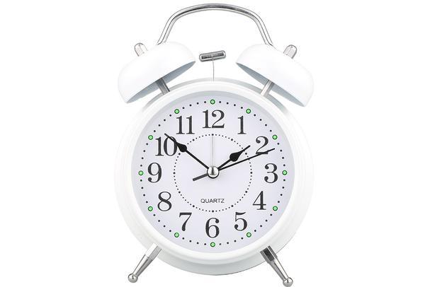 Almina Çalar Saat | Küçük | Beyaz | Al-clock-0003