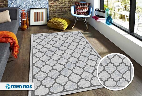 Merinos Style Modern Halı | Gri | 30524-96-Grey