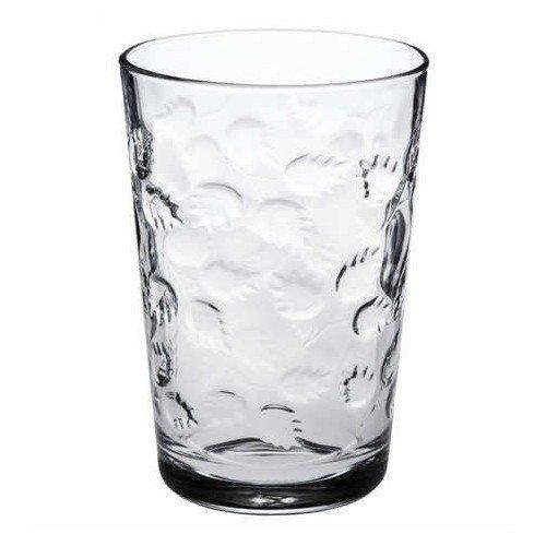 Paşabahçe Yaprak Desenli Su Bardağı | Mor | 205ml