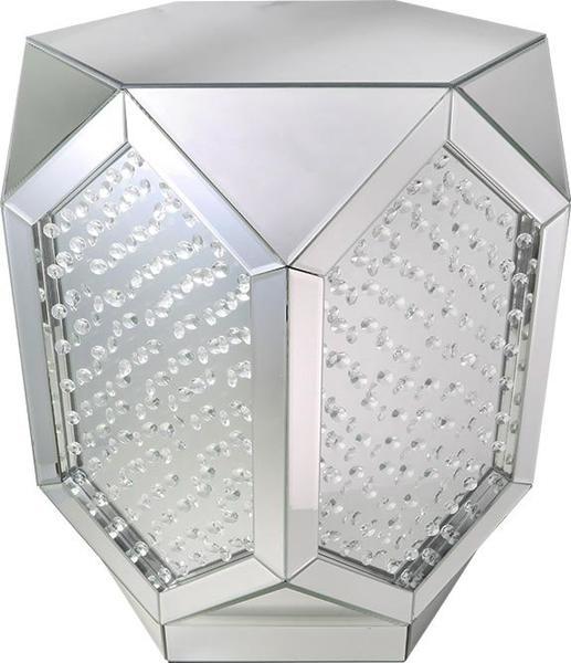 Glore Glassware Lüks Modern Kesim Aynalı Sehpa Stand Trapez XXL