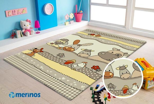 Merinos Diamond Animals Çocuk Odası Halısı | Bej | 484-70-Beige
