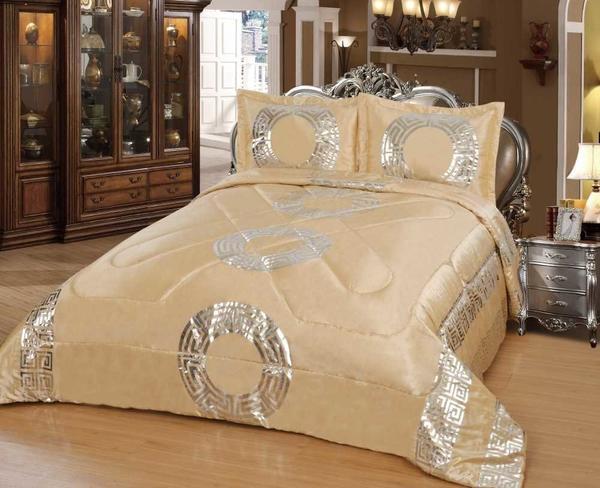 Dematex Saten Yatak Örtüsü Seti Sultan Altın