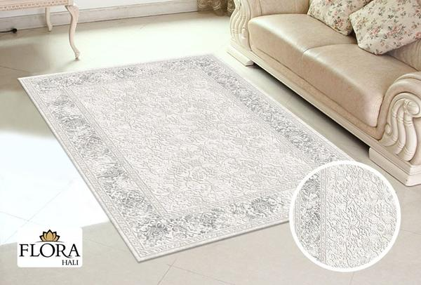 Flora Aysil Collection Halı | Gri | F-4686A-Grey