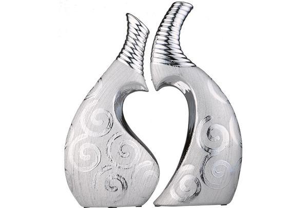 Almina 2'li Dekoratif Biblo | Gümüş | Al-4748