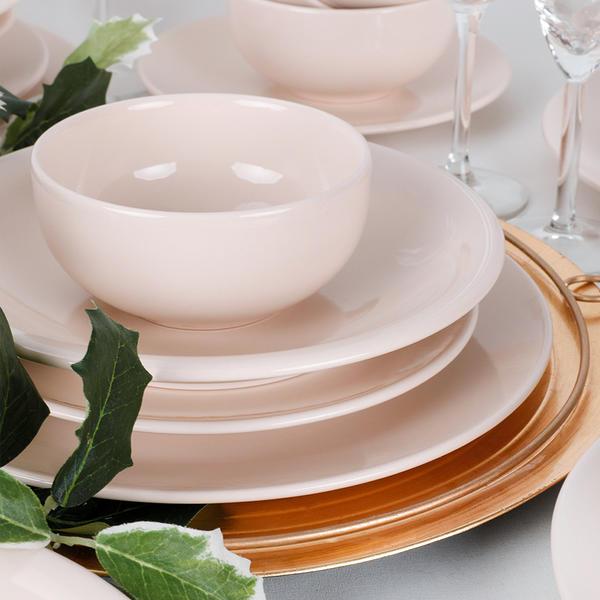 Ege Krem Yemek Takımı 6 Kişilik 24 Parça | Keramika