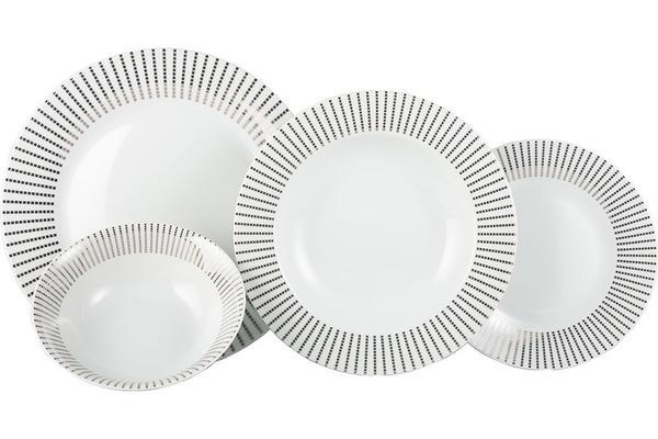 Seranova Yemek Seti   Porselen   24 Parça   6 Kişilik   MCK-0029