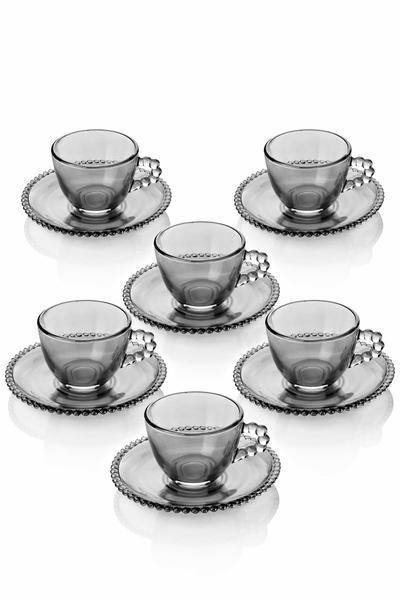 6 Kişilik Cam Lüx Türk Kahvesi Takımı