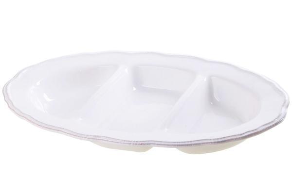Çınar 3 Bölmeli Porselen Servis Tabağı