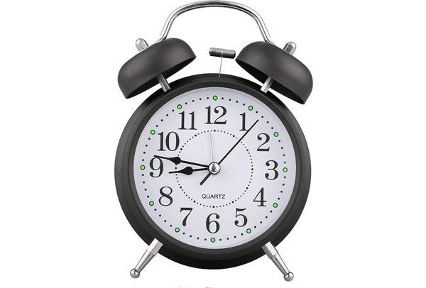 Almina Çalar Saat | Küçük | Siyah | Al-clock-0004