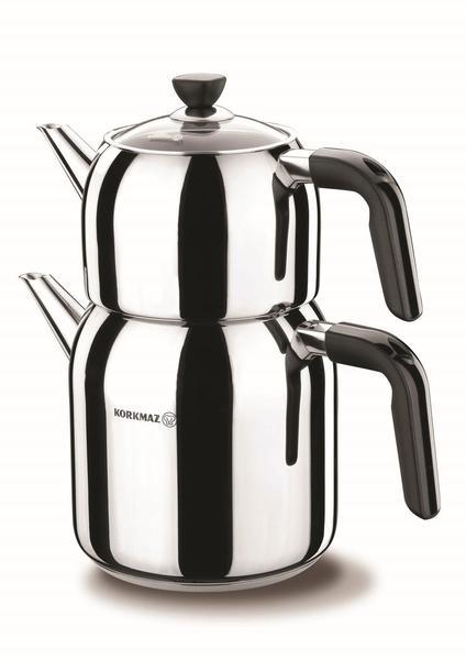 Korkmaz Kappa Çaydanlık Paslanmaz Çelik 2.9 Litre | İndüksiyon | A078-01
