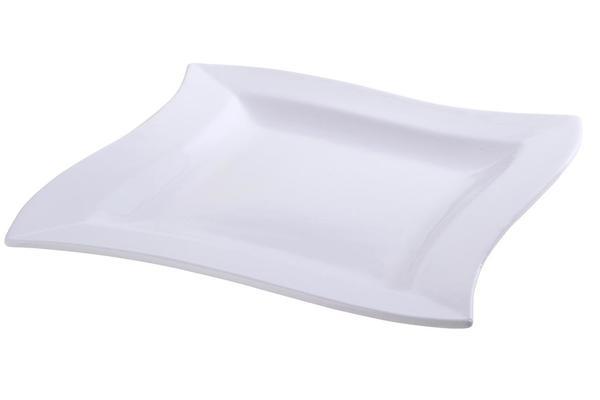 Çınar Blinera Servis Tabağı S-form Kare | Beyaz