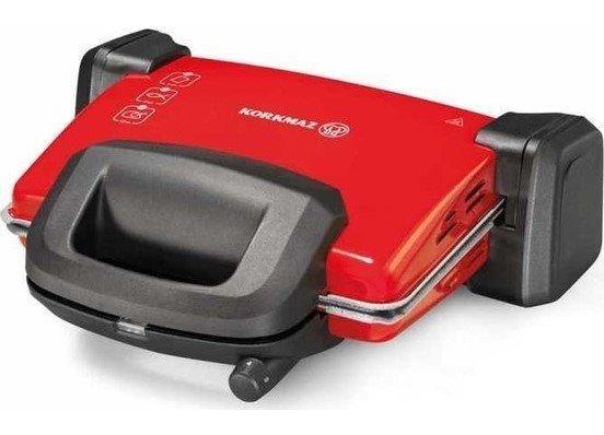 Korkmaz Kompakto Granit Midi Tost Makinası | Kırmızı | A312-06
