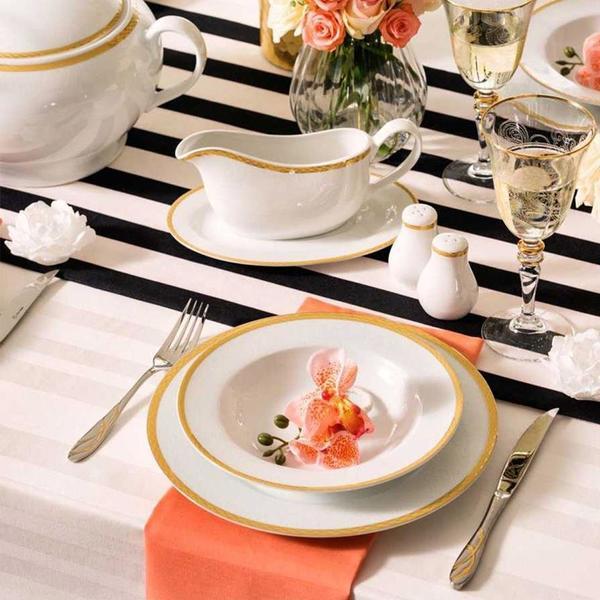 Korkmaz Bianca 86 Parça Bloom Porselen Yemek Takımı | 12 Kişilik | A8024