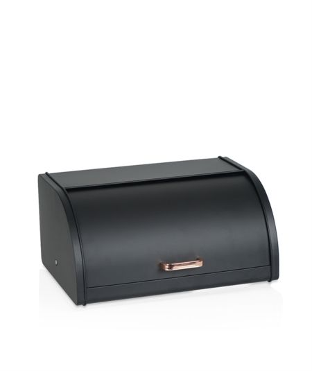 Acar | Siyah Metal Ekmek Kutusu