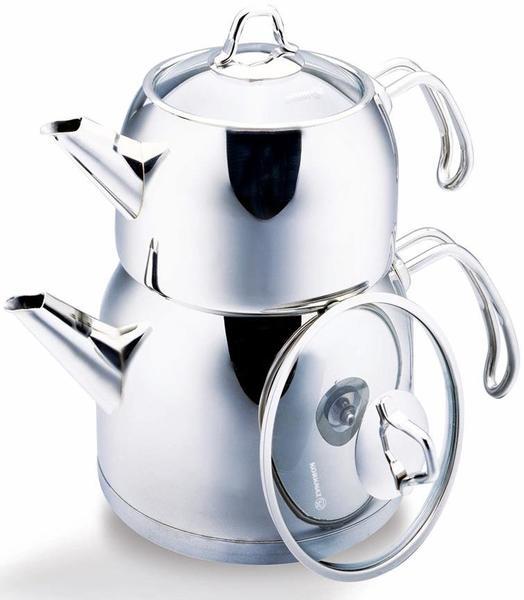 Korkmaz Maxi Provita Çaydanlık Paslanmaz Çelik 3.1 Litre | İndüksiyon | A105