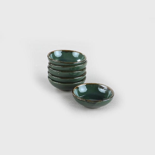 Zümrüt Halka Çerezlik/Sosluk 7 Cm 6 Adet | Keramika