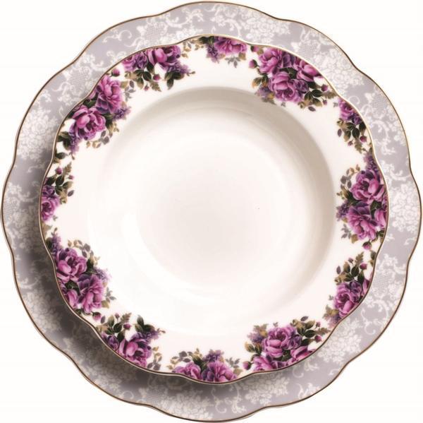 Korkmaz Flora Collection 86 Parça Yuvarlak Yemek Takımı | 12 Kişilik | A8252