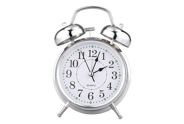 Almina Çalar Saat | Küçük | Gümüş | Al-clock-0005