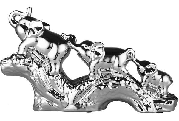 Almina 3'lü Dekoratif Fil Biblosu | Gümüş | Al-2645