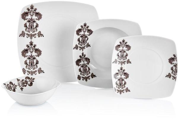 Neva Viensa 24 Parça Beyaz Porselen Yemek Takımı | 6 Kişilik | N562
