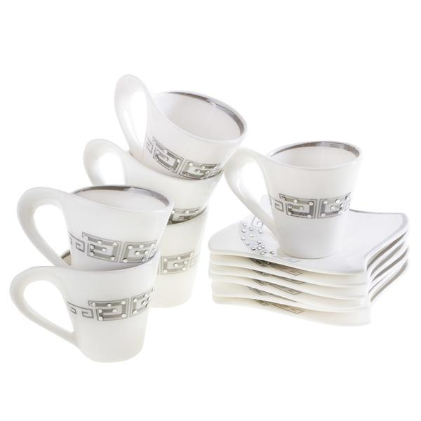 Bavary 6'lı Kahve Fincan Seti Porselen 12 Parça | Hyc301las