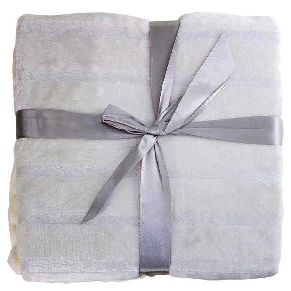 Bavary Yün Battaniye 130x170cm Beyaz Tek Kişilik