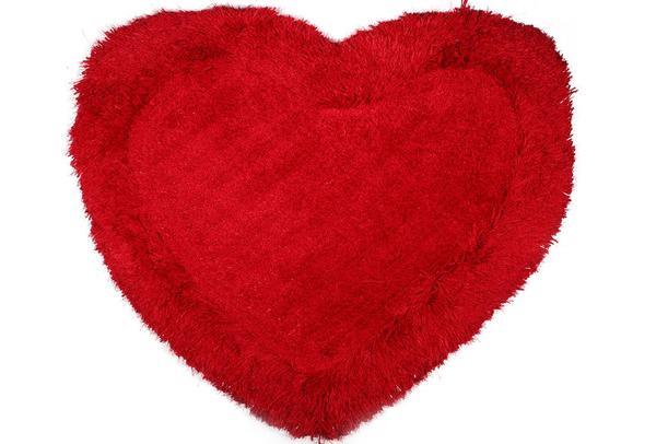 Bavary Banyo ve Kapı Önü Paspası | Kalp Şekilli | by-Heart-Red