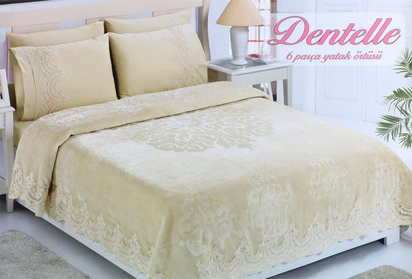 Zümrüt Dentelle 6 Teilig Tagesdecken Set Bettdecke