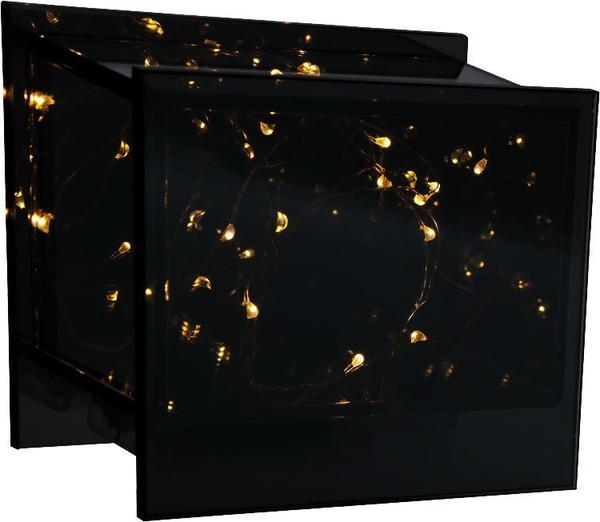 Dekonaz Dekoratif Masa Lambası Pilli Dikdörtgen | Siyah | 12x22cm
