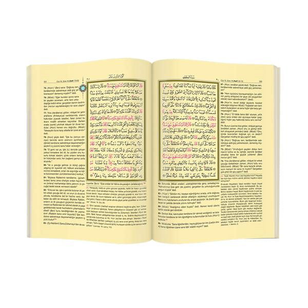 Kuranı Kerim - Arapça ve Meal - Mealli Kuranı Kerim - Bilgisayar Hatlı - Orta Boy - Mühürlü - Hayrat