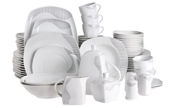 Beyazca Beril 86 Parça Porselen Yemek Takımı | 12 Kişilik