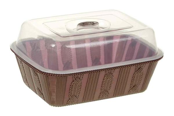 Violet Ekmek Sepeti / Kutu Kapaklı Bej