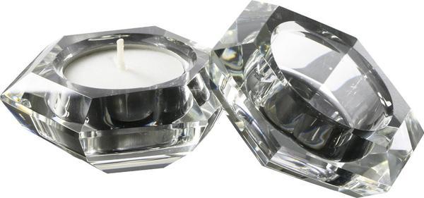 Dekonaz 2'li Kristal Mumluk 7cm | Malo-09922