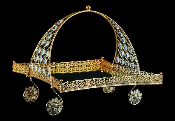 Kristall Deko dematex dekoratif meyve kase el yapımı altın bedibuy