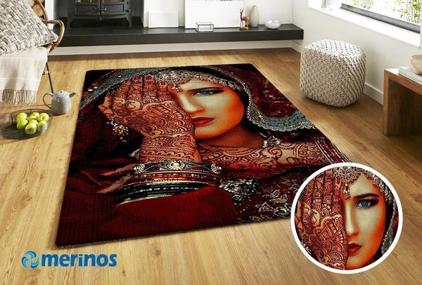 Merinos Halı Marokko Dövme Desenli | Kırmızı | 830-75