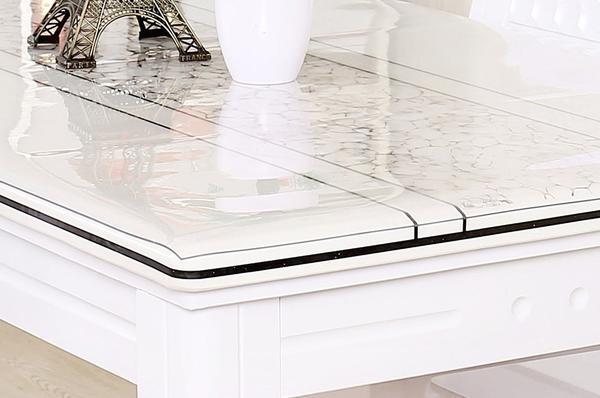 Cinar PVC Tischdecke Wachstuch Meterware Transparent 2mm120cm Tischschutz