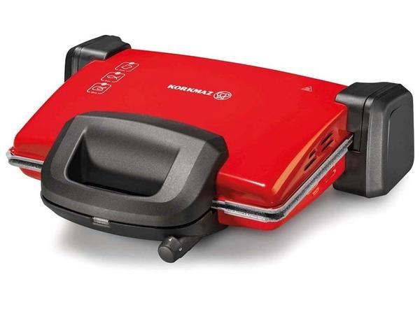 Korkmaz Kompakto Granit Maxi Tost Makinesi Kırmızı/Siyah | A313-08