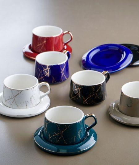6Lı Porselen Kahve Fincan Takımı