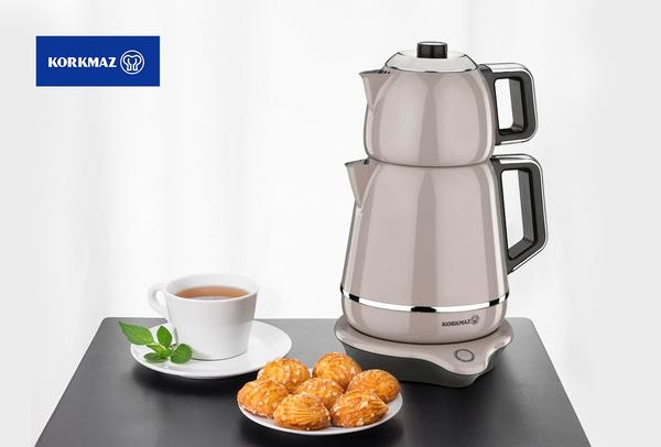Korkmaz Demiks Elektrikli Çay Makinesi Semaver | Bej | A332-02