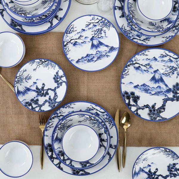 Keramika   Blue Mountains 24 Parça 6 Kişilik Yemek Takımı
